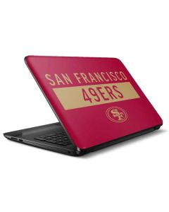 San Francisco 49ers Red Performance Series HP Notebook Skin