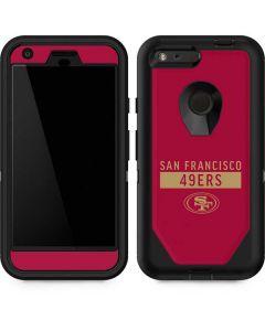 San Francisco 49ers Red Performance Series Otterbox Defender Pixel Skin