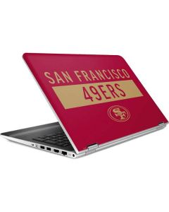 San Francisco 49ers Red Performance Series HP Pavilion Skin