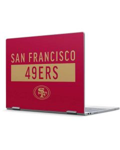 San Francisco 49ers Red Performance Series Pixelbook Skin