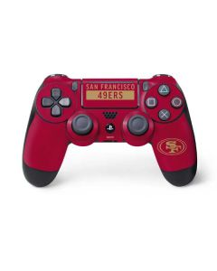 San Francisco 49ers Red Performance Series PS4 Pro/Slim Controller Skin