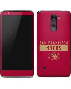 San Francisco 49ers Red Performance Series Stylo 2 Skin