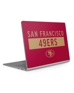 San Francisco 49ers Red Performance Series Surface Book 2 15in Skin