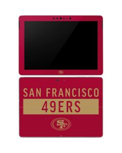 San Francisco 49ers Red Performance Series Surface Go Skin