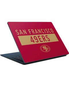 San Francisco 49ers Red Performance Series Surface Laptop Skin