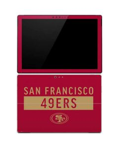 San Francisco 49ers Red Performance Series Surface Pro 4 Skin