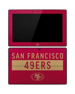 San Francisco 49ers Red Performance Series Surface Pro Tablet Skin