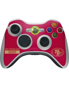 San Francisco 49ers Red Performance Series Xbox 360 Wireless Controller Skin