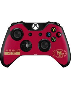 San Francisco 49ers Red Performance Series Xbox One Controller Skin