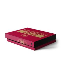 San Francisco 49ers Red Performance Series Xbox One X Console Skin