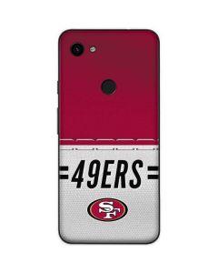 San Francisco 49ers White Striped Google Pixel 3a Skin