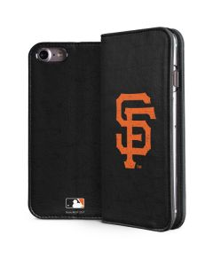 San Francisco Giants - Solid Distressed iPhone 8 Folio Case