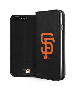 San Francisco Giants - Solid Distressed iPhone 8 Plus Folio Case