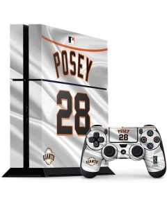 San Francisco Giants Posey #28 PS4 Console and Controller Bundle Skin