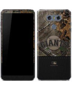 San Francisco Giants Realtree Xtra Camo LG G6 Skin