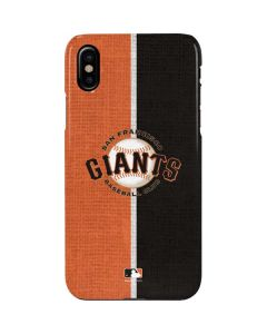 San Francisco Giants Split iPhone XS Max Lite Case