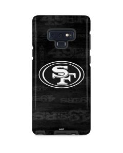 San Franciso 49ers Black & White Galaxy Note 9 Pro Case