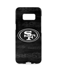 San Franciso 49ers Black & White Galaxy S8 Plus Lite Case