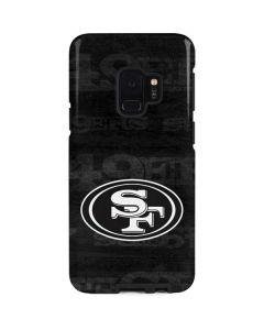 San Franciso 49ers Black & White Galaxy S9 Pro Case