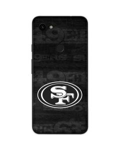 San Franciso 49ers Black & White Google Pixel 3a Skin