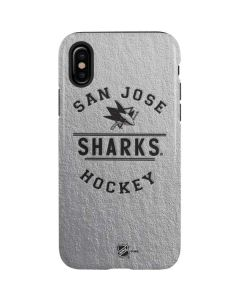 San Jose Sharks Black Text iPhone X Pro Case