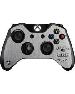 San Jose Sharks Black Text Xbox One Controller Skin