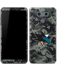 San Jose Sharks Camo LG G6 Skin