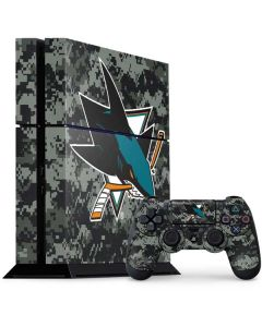 San Jose Sharks Camo PS4 Console and Controller Bundle Skin