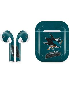 San Jose Sharks Distressed Apple AirPods Skin