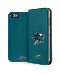 San Jose Sharks Distressed iPhone 8 Folio Case