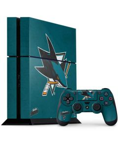San Jose Sharks Distressed PS4 Console and Controller Bundle Skin