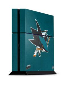 San Jose Sharks Distressed PS4 Console Skin