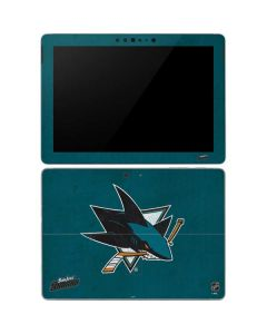 San Jose Sharks Distressed Surface Go Skin