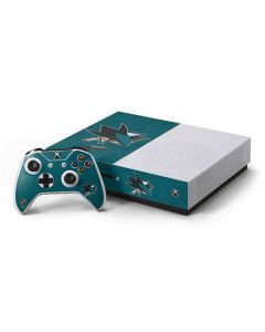 San Jose Sharks Distressed Xbox One S Console and Controller Bundle Skin