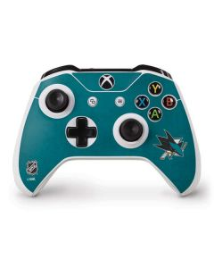 San Jose Sharks Distressed Xbox One S Controller Skin