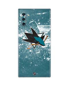 San Jose Sharks Frozen Galaxy Note 10 Skin