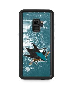 San Jose Sharks Frozen Galaxy S9 Waterproof Case