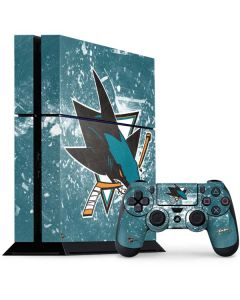 San Jose Sharks Frozen PS4 Console and Controller Bundle Skin