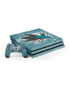 San Jose Sharks Frozen PS4 Pro Bundle Skin
