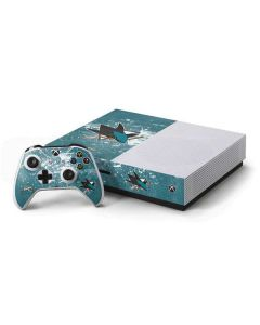 San Jose Sharks Frozen Xbox One S Console and Controller Bundle Skin