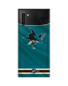 San Jose Sharks Home Jersey Galaxy Note 10 Skin