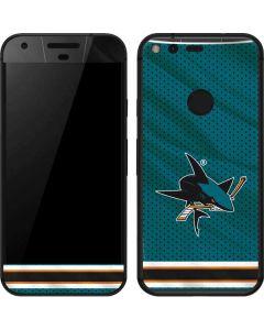 San Jose Sharks Home Jersey Google Pixel Skin