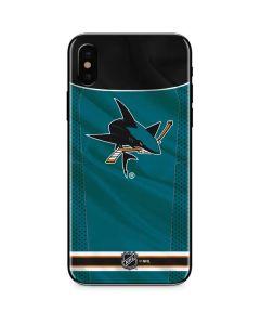 San Jose Sharks Home Jersey iPhone XS Skin