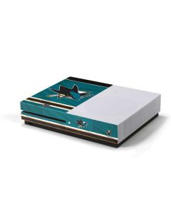 San Jose Sharks Home Jersey Xbox One S Console Skin