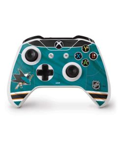 San Jose Sharks Home Jersey Xbox One S Controller Skin