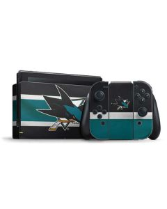 San Jose Sharks Jersey Nintendo Switch Bundle Skin