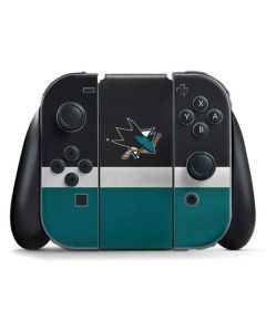 San Jose Sharks Jersey Nintendo Switch Joy Con Controller Skin