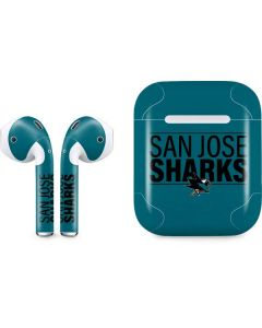 San Jose Sharks Lineup Apple AirPods Skin