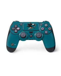 San Jose Sharks Solid Background PS4 Controller Skin