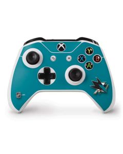 San Jose Sharks Solid Background Xbox One S Controller Skin